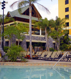 Hotel outside pool
