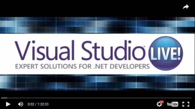 Visual Studio Live! Conference Training Event Series Home -- Visual
