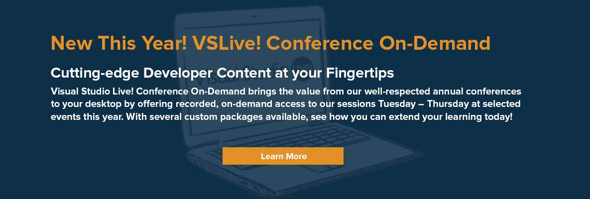 Visual Studio Live! Conference Training Event Series Home